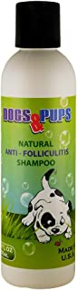 Therapeutic Shampoo Dogs & Puppies for Treatment of Folliculitis, Yeast, Fungal & Bacterial Infections, Seborrhea, Ringworm, Dandruff, Hot Spots, Scrapes, Itchy Skin - with Essential Oils - 6.0 OZ