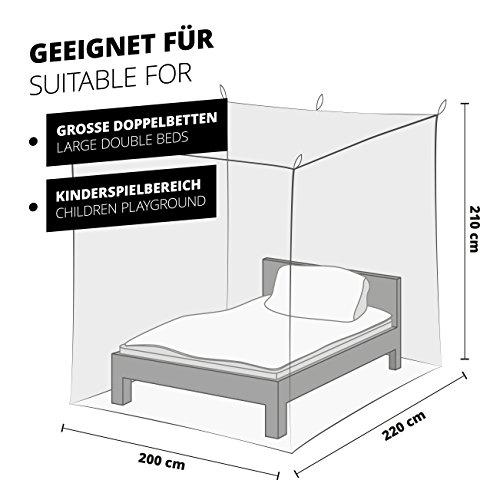 Eckiges Mückennetz für Betten
