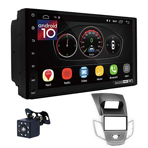 UGAR EX10 7 pollici Android 10.0 DSP Navigazione GPS per Autoradio + 11-306 Kit di Montaggio compatibile per Ford Fiesta 2008+