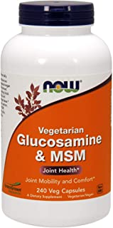 Now Supplements, Glucosamine & MSM (GreenGrown Glucosamine), Vegetarian, 240 Veg Capsules