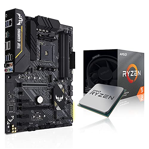 Micro Center AMD Ryzen 5 3600 6-Core Up to 4.2GHz Socket AM4 Unlocked Desktop Processor with Wraith Stealth Cooler Bundle with ASUS TUF Gaming B450-PLUS II AMD AM4 Ryzen 5000 ATX Gaming Motherboard