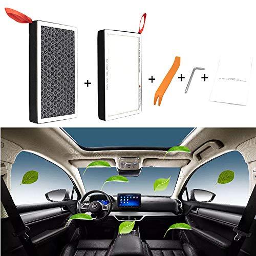 MOCW 2 filtros de aire HEPA para Tesla modelo 3 modelo Y de carbón activado para aire acondicionado de repuesto de cabina de filtro de aire actualizado