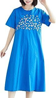 女性の夏のプリント半袖カジュアルルーズワンピースろんぐ ぬりえ もこもこ ドレス やすい おおきいサイズ ドレス かみかざり