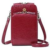 sendefn donna borsa a tracolla per pelle cellulare,portafoglio donna per cellulare piccola borsa con fessure per carte a tracolla per cinturino regolabile