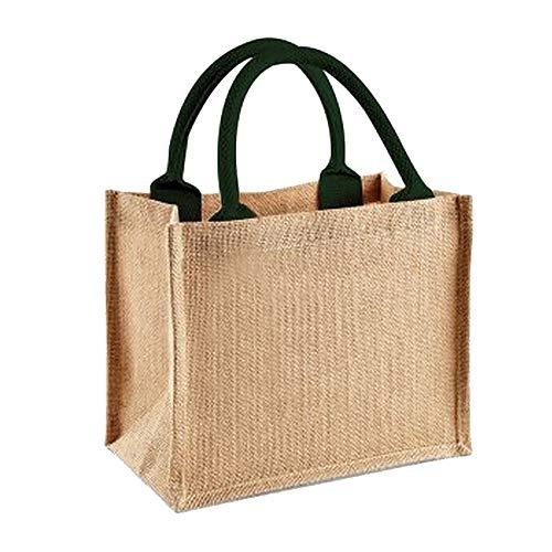 Westford Mill Jute-Tasche / Jute-Mini-Geschenktasche, 6 Liter (Einheitsgröße) (Natur/ Grün)