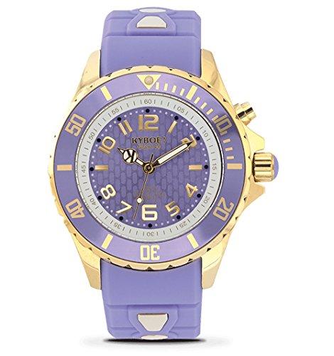 KYBOE! Reloj de cuarzo de acero inoxidable y silicona (modelo: dorado)