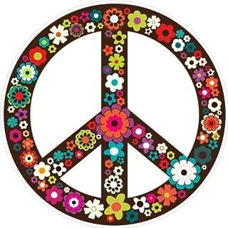 Autocollant sticker voiture moto tuning peace and love drapeau fleur