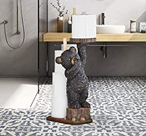 GetSet2Save New Adorable Bear Serving and Toilet Paper While Pinching Nose (Bear Toilet Paper Holder)