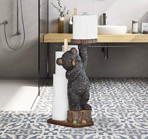 GetSet2Save Adorable Bear Serving Toilet Paper While Pinching Nose (Bear Toilet Paper Holder)