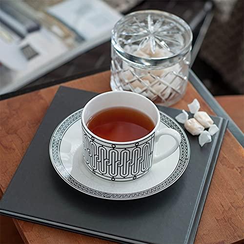 ZSSGSHR Elegante Golden Top Top Grour China Copa de Café Copa de té Europea Conjunto y platillo Tea Tea Coffee Webware