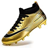 NC - Scarpe da calcio da uomo con punte alte per la cura della caviglia, scarpe da calcio, adatte per attività all'aperto, interni/giochi, allenamento