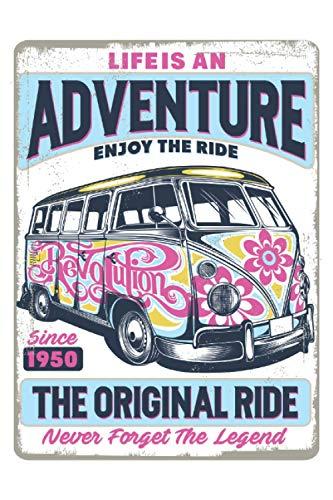 LIVE IS AN ADVENTURE THE ORIGINAL RIDE VW BUS SURFERBUS CAMPER Kalender 2021: Jahreskalender Terminplaner Familienplaner Terminkalender Taschenkalender Jahresplaner Familienkalender 2021