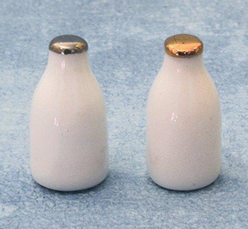 1/12 Echelle Poupées Maison Bouteilles de lait x2