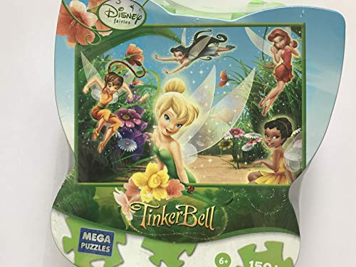 Disney Fairies TinkerBell 'Summer Sparkles' 150 Piece Puzzle in Tin Trunk by Mega Puzzles