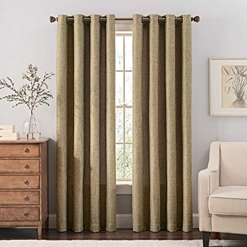 LIBERTY PROCUREMENT Reina 95-Inch Grommet Top Window Curtain Panel in Green