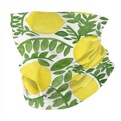 Funda para hombre y mujer con diseño de limón, color amarillo