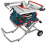 Bosch GTS1041A-09 REAXX Flesh-Detecting Jobsite Table Saw with Gravity-Rise Wheeled Stand