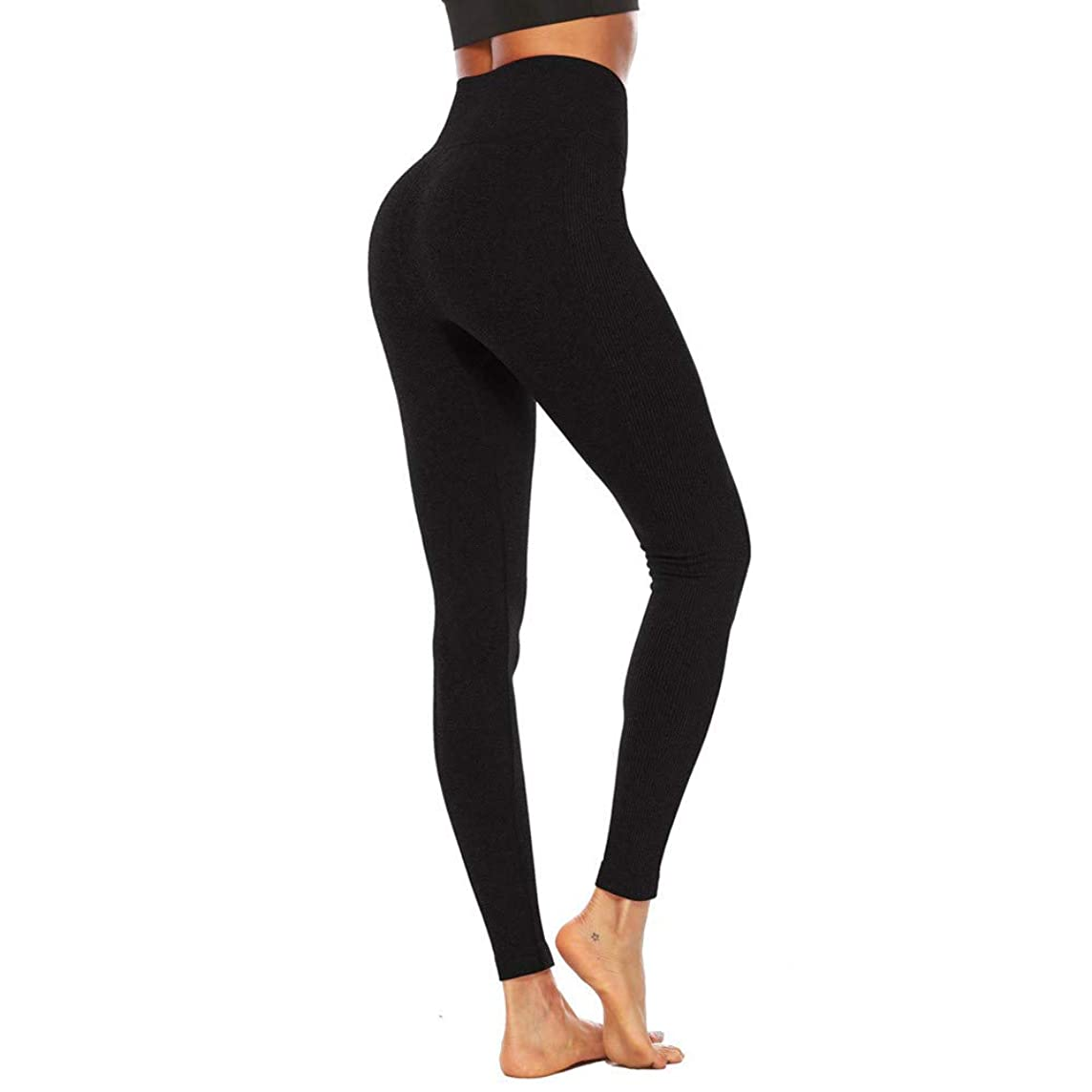 Kinglly Women Adjustable Workout Solid Line Leggings Fitness Sport Yoga Athletic Pants