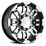Vision Warrior 375 Gloss Black Machined Face Wheel (17x8.5'/8x165.1mm)