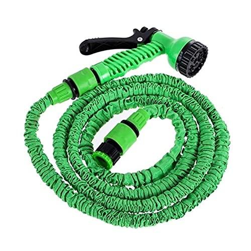 WSXC Pistola rociadora de riego de tubería de Manguera de jardín de Agua Flexible expandible para Lavado de Autos Sistema de riego de Limpieza Kit de riego Manguera de Agua (Color: Verde, Tamaño: 200