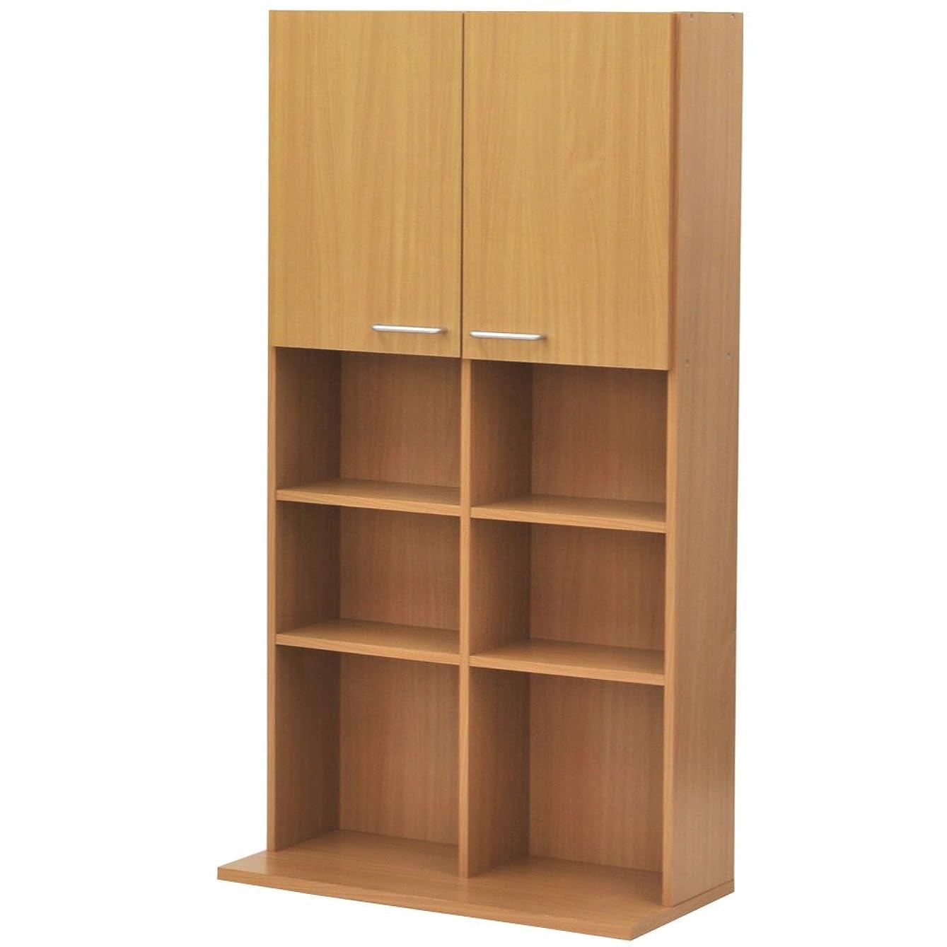 終了する考え必要性ぼん家具 【完成品+設置】 ディスプレイラック 収納 ラック 本棚 整理棚 棚 〔幅80cm〕 ナチュラル