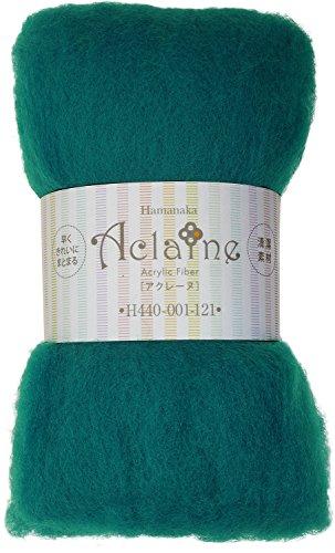 ハマナカ 羊毛フェルト アクリルファイバーアクレーヌ Col.121 グリーン 15g H440-001-121