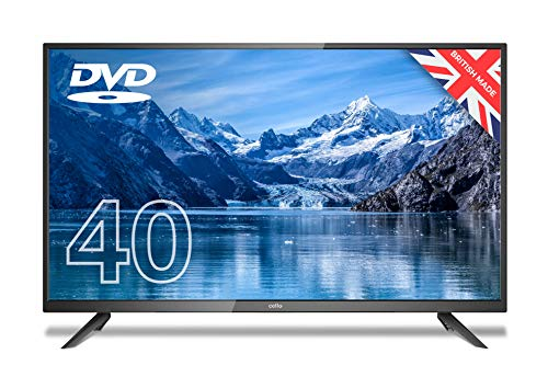 "Cello ZF0204 40"" inch Full HD LED TV with Built-in DVD player and Freeview HD 2020 Model Made in the UK (New 2020 Model),Black"