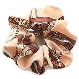 [ジュエルボックス] JewelVOX ヘアアクセサリー スカーフ柄 デザイン シュシュ ベージュ 選択