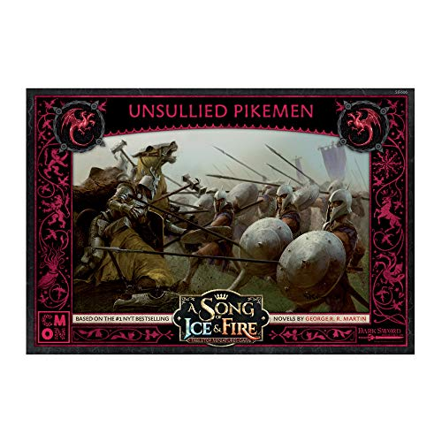 A Song of Ice and Fire Tabletop Miniatures Game – Unsullied Pikemen Expansion Set | Strategy Game...