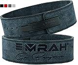 EMRAH Pro Buff Hide Cinturón de Levantamiento de Pesas para Hombres y Mujeres | Durable Cómodo (Gris, Pequeña)