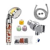 Negative Ion Shower Set 6-Piece Shower Vitamin C Aromatherapy Ion Shower Nozzle Filter High Pressure Handheld Portable Shower, Universal Shower System