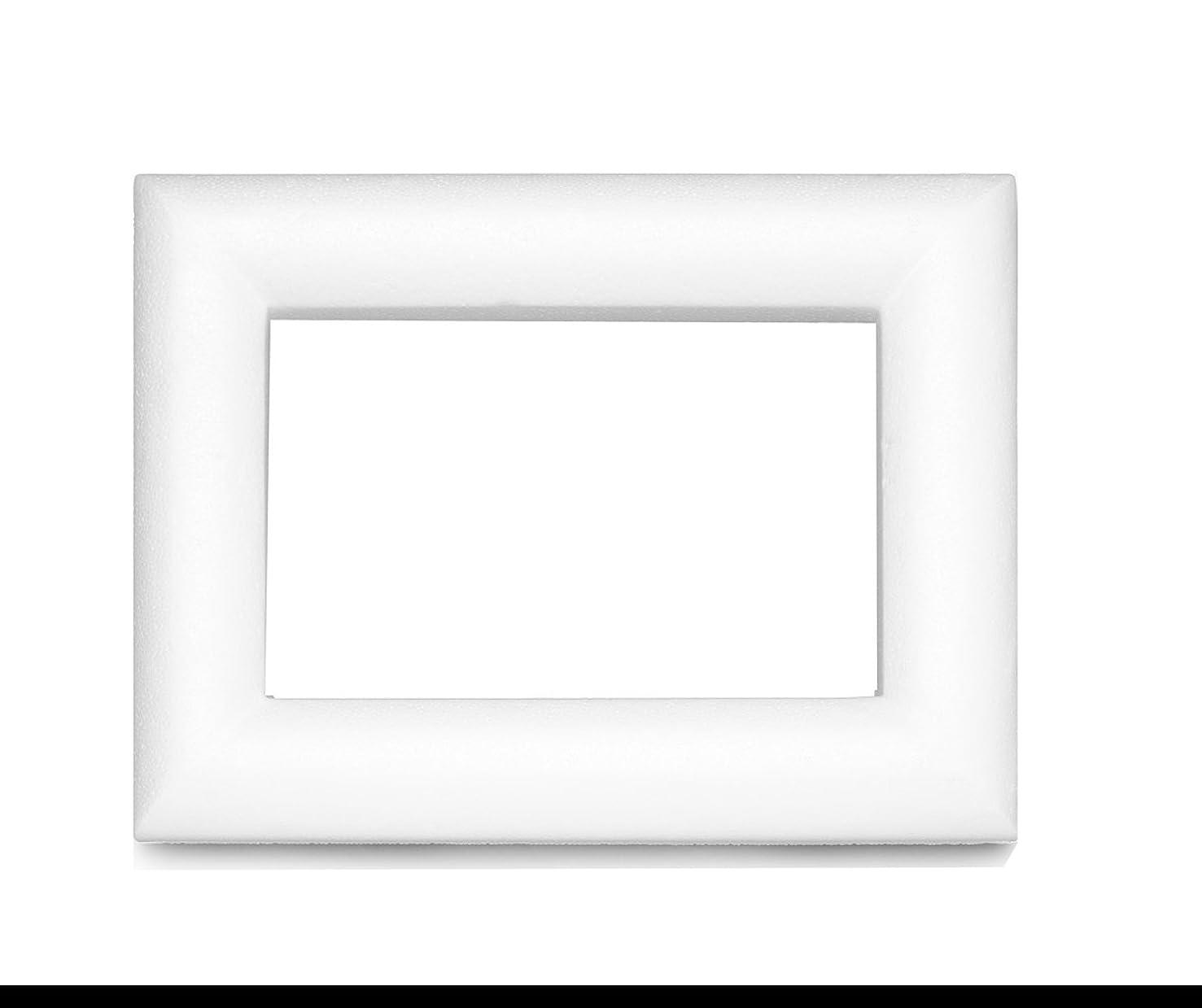 Glorex 3803?866?6?Styrofoam Polystyrene Foam Frame White 23?x 16?x 2?cm