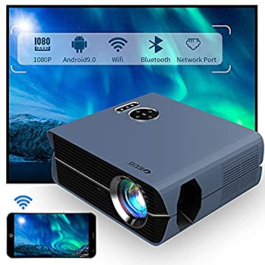 WiFi Smart LCD Projector 1080P Native Android...