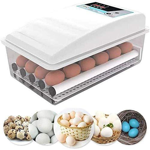FCX-SHEARS Beleuchtung Ei Inkubator, Brutmaschine Temperaturregulierung, Brutschrank Automatische Wendung Eier, Brutkasten Brutapparat Flächenbrüter, Ausbrüten Hühner Ente Gänseeier,16Eggs