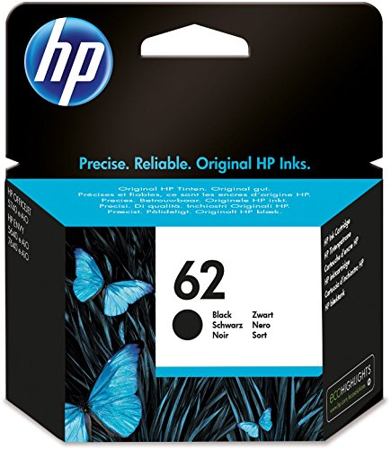 HP C2P04AE 62 Original Ink Cartridge, Black, Single Pack