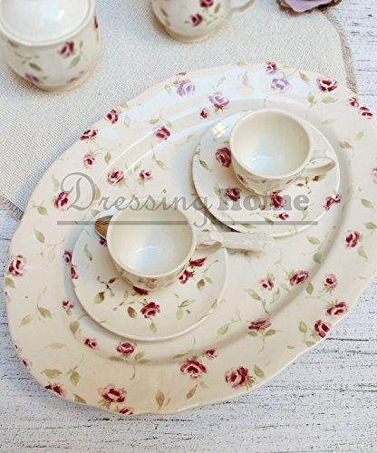 Vassoio Ovale Blanc Mariclo Shabby Chic Floret Full Collection