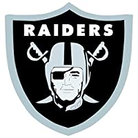 skyhighprint - Oakland Raiders NFL Football Decor Vinyl Print Sticker 12'' X 12''