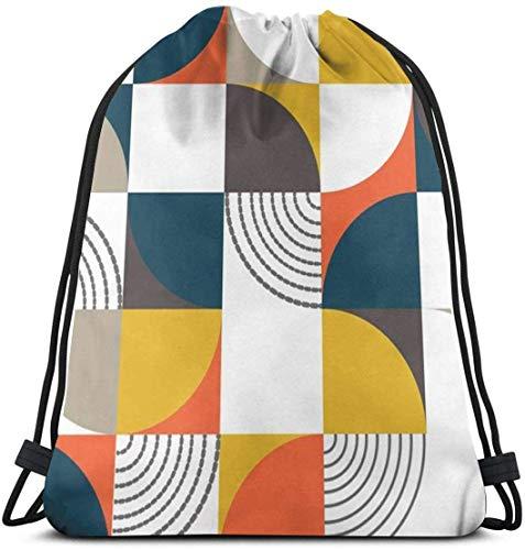 New Era Shop Bauhaus Style 3D Print Drawstring Backpack Rucksack Shoulder Bags Gym Bag for Adult...