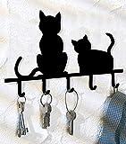 WENKO Schlüsselboard Katzen Schlüssel Kasten Schlüssel aufbewahren