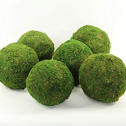 Koyal Wholesale 6-Pack Green Moss Balls, 8-Inch
