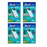 ReliOn Confirm/Micro Plus Blood Glucose Test Strips, 20 Ct (4 Pack)