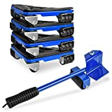 5 Pack Heavy Furniture Lifter, Furniture Movers Tools Kit, Moving Sliders Mover Set for Sofa Refrigerator, Furniture Sliders for Carpet, Appliance Roller Max Capability Load for 880-1100lb