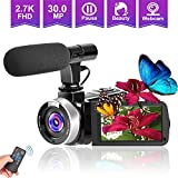 Best Blogging Cameras - Camcorders Video Camera, Vlogging Camera for YouTube 2.7K Review