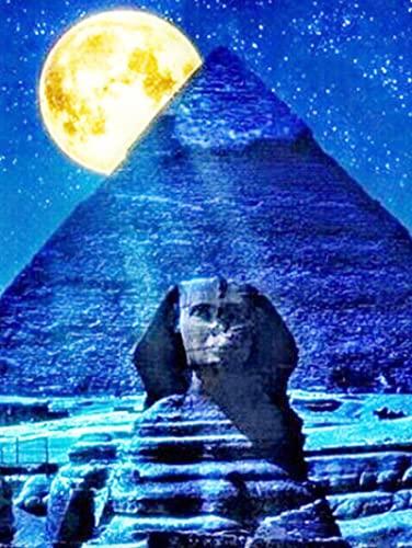 HJHJHJ Rompecabezas de 2000 Piezas para Adultos pirámides egipcias en la Noche Rompecabezas de Madera 2000 Pieza 100x71cm