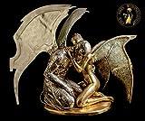 FINE ARTS WOHNKULTUR Escultura de bronce, figura de amor, estatua de ángel de lujo, gigante trampa Angel