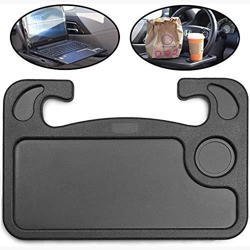 Parayung Multifunktionaler Lenkradtisch Auto Hauptfahrerkarte Schreibtisch Tragbarer ESS-Laptop-Tisch Für die meisten Fahrzeuge Lenkrad (Schwarz)