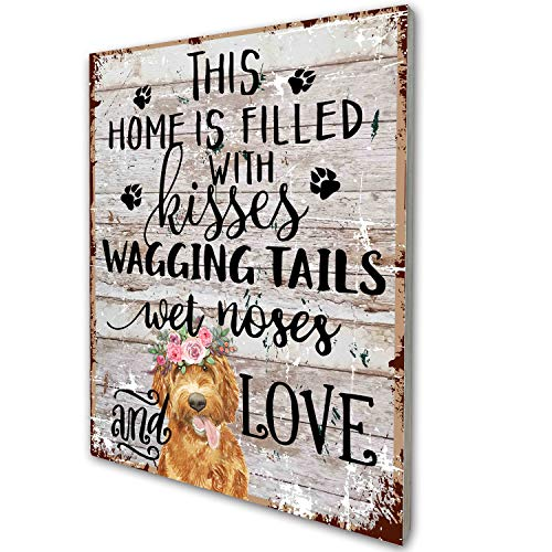 Poodle Dog Pet Home Love Wood Wall Art Decor, Gift for Dog Mom Dad Lover Poodle Dog Owner Friend, 8x10 inches