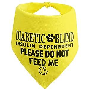 JPB Diabetic and Blind Dog Bandana,Medical Alert Dog Bandana,Please Do Not Feed Bandana