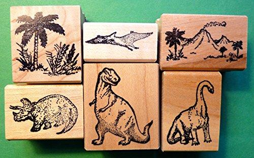 Dinosaur Rubber Stamp Set of 6