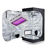 "TopoLite LED 300W Full Spectrum Grow Light +24""x24""x48"" Grow Tent Dark Room Indoor Hydroponic System Kit"